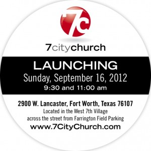 7 City Church - Launch Invite